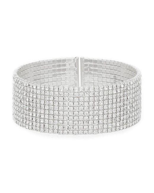 Anne Klein - Metallic Crystal Cuff Bracelet - Lyst