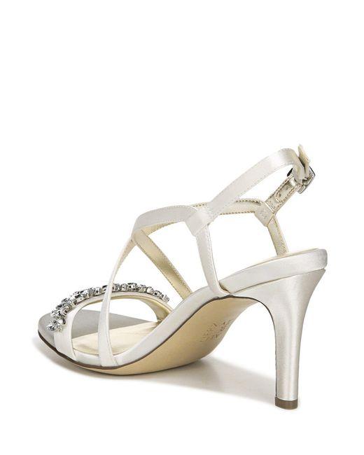 8bce351f2cbe ... Naturalizer - White Kia Evening Dress Sandals - Lyst ...