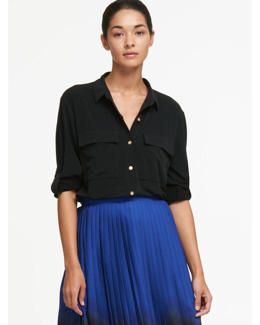 DKNY - Multicolor Dip-dye Pleated Midi Skirt - Lyst