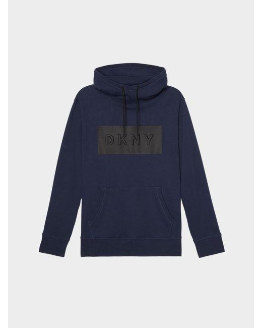 DKNY - Blue Heat Seal Logo Hoodie for Men - Lyst