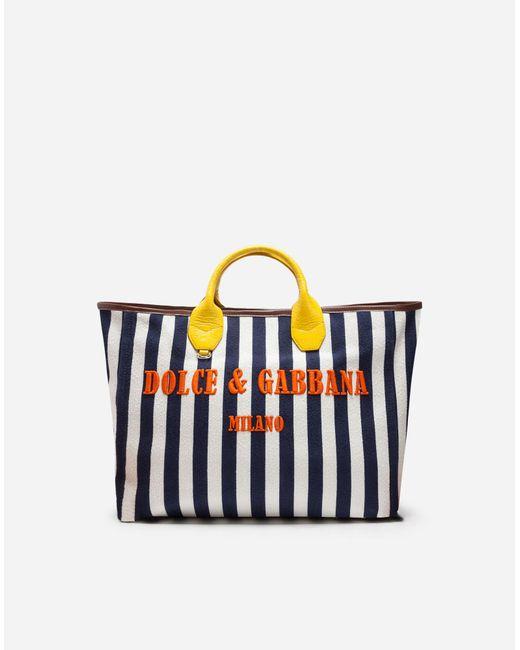 Dolce & Gabbana - Multicolor Capri Wicker Shopping Handbag - Lyst