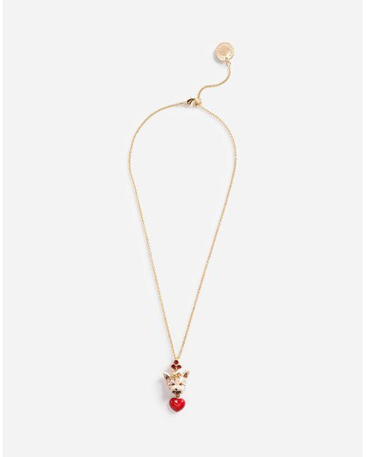 Dolce & Gabbana | Metallic Pendant Necklace | Lyst
