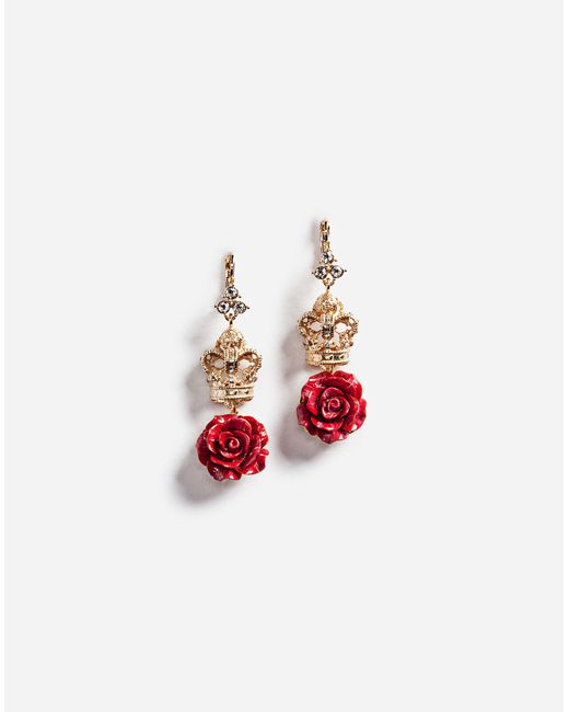 Dolce & Gabbana | Metallic Earrings With Decorative Details | Lyst