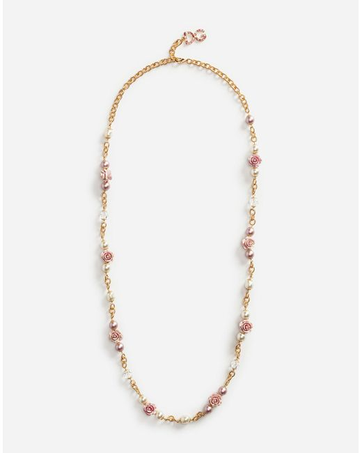 Dolce & Gabbana - Metallic Crystal Necklace - Lyst
