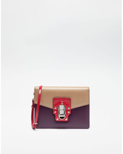 Dolce & Gabbana   Multicolor Lucia Shoulder Bag In Leather And Ayers   Lyst