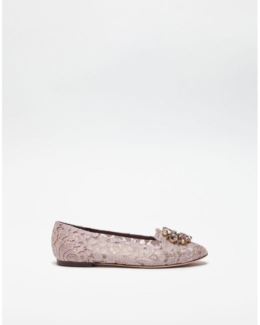 Dolce & Gabbana Slipper AL198 Taormina-lace buckle ornament