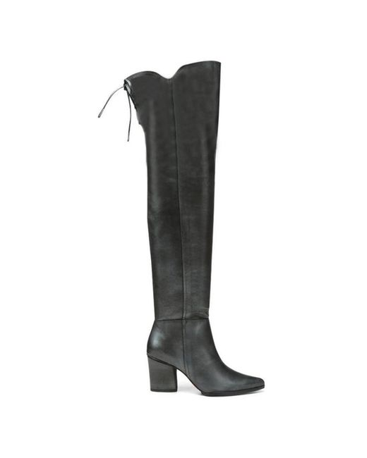 Donald J Pliner | Black Shine Calf Leather Boot | Lyst