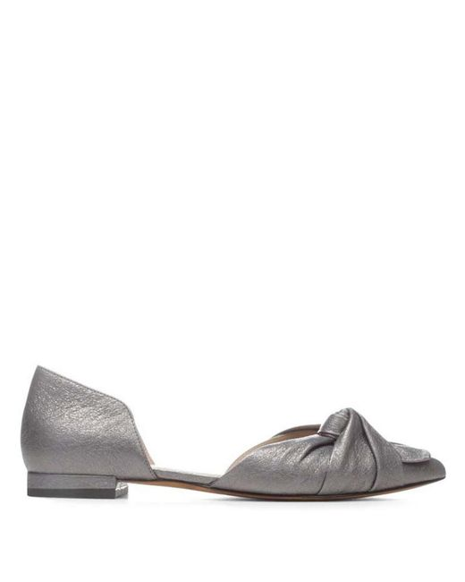 Donald J Pliner - Crackled Metallic Leather Flat - Lyst