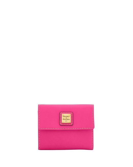 Dooney & Bourke - Pink Emerson Small Flap Wallet - Lyst