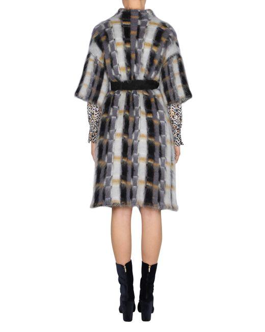 dorothee schumacher cloudy brushed coat 1 2 in multicolor lyst. Black Bedroom Furniture Sets. Home Design Ideas