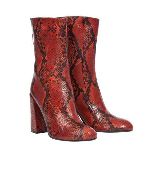 dorothee schumacher exotic allure chunky heel boot 10 cm in red lyst. Black Bedroom Furniture Sets. Home Design Ideas