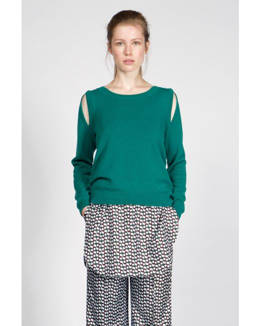 Dorothee Schumacher   Green Drape And Dream Pullover 1/1   Lyst