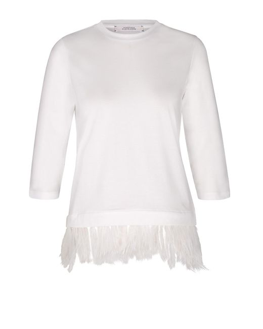 Dorothee Schumacher | White Diverse Effects Shirt, O-neck, 3/4 | Lyst