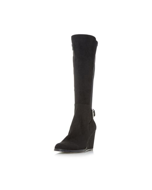 Dorothy Perkins - Head Over Heels By Dune Black Silantro Heeled Boots - Lyst
