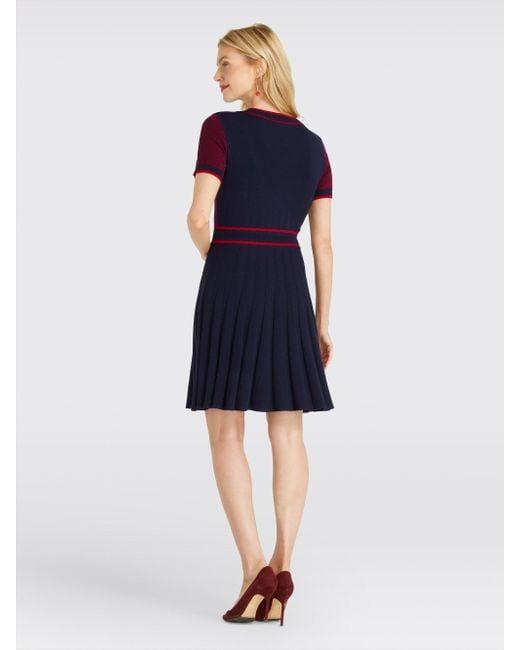 fc41e7b18f6 Lyst - Draper James Magnolia Fair Isle Knit Dress in Blue - Save 54%