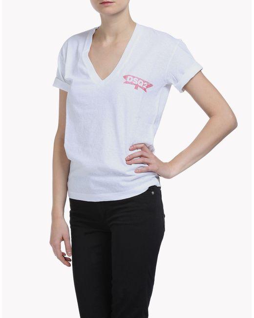 DSquared²   White Short Sleeve T-shirt   Lyst