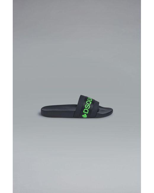 4cb293ba5 DSquared² - Black Acid Glam Punk Tape Slides for Men - Lyst ...