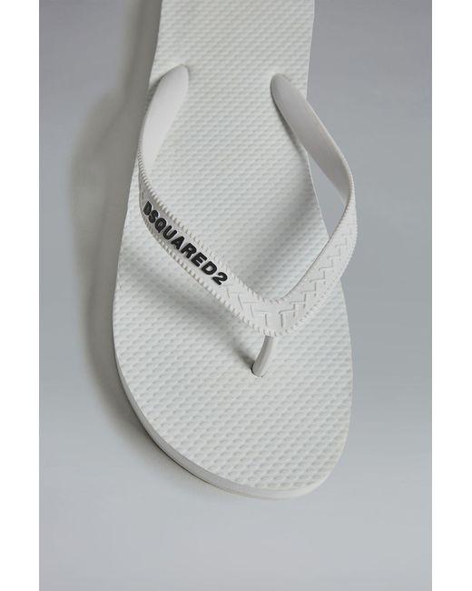 5faeace26 ... DSquared² - White Flip Flop for Men - Lyst ...