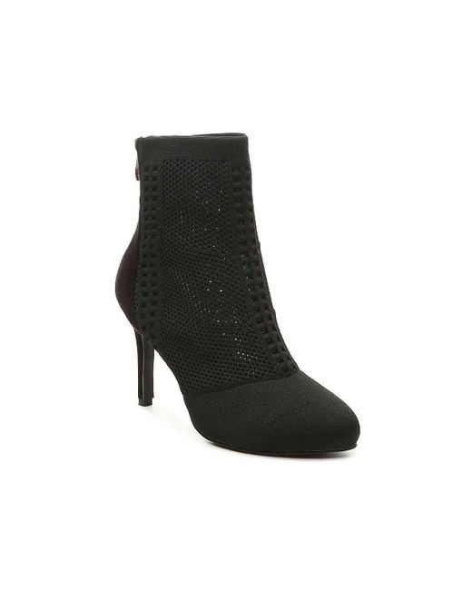 N.y.l.a. - Black Knitted Bootie - Lyst