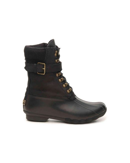 73f02e082faf ... Sperry Top-Sider - Black Shearwater Duck Boot - Lyst ...