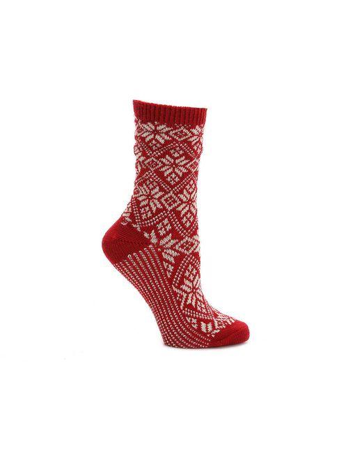 Smartwool - Red Snowflake Crew Socks - Lyst