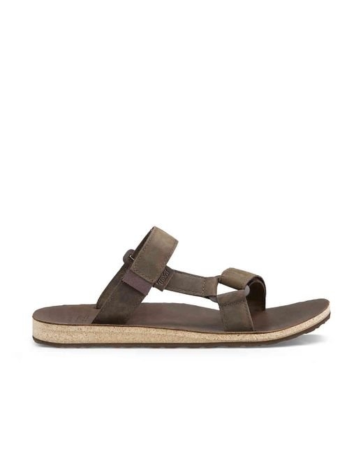 e28f62e87ac teva-Dark-Brown-Universal-Slide-Leather-Slide-Sandal.jpeg