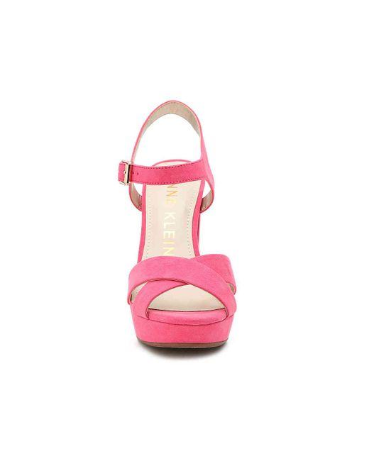 a8ed6a2aacf ... Anne Klein - Pink Lalima Platform Sandal - Lyst ...