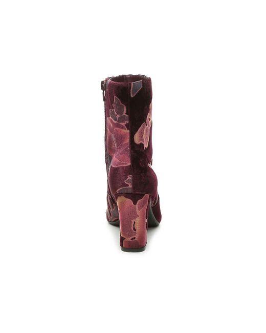 00288c1d3a6a ... Steve Madden - Purple Elissa Velvet Bootie - Lyst ...
