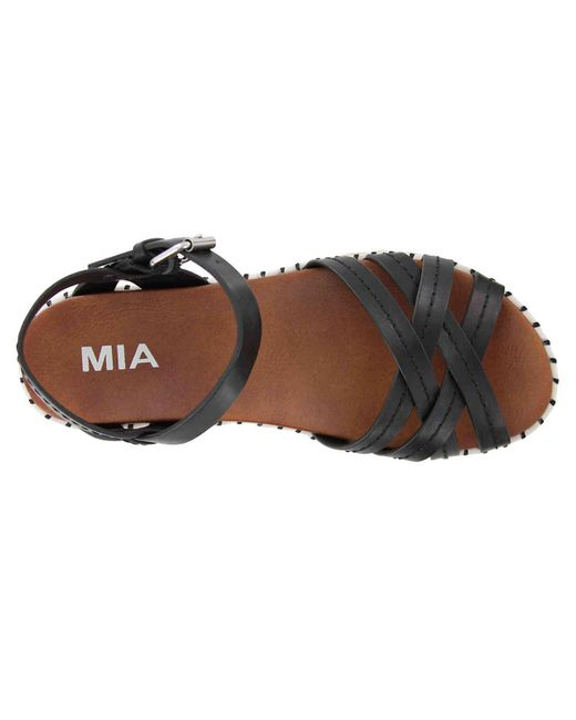 2b44f43f47 ... MIA - Black Virginia Espadrille Platform Sandal - Lyst ...