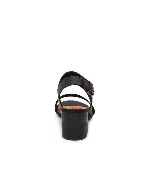 f102ef5334a ... Lyst TOMS - Black Poppy (shade Suede linen) Women s Sandals ...