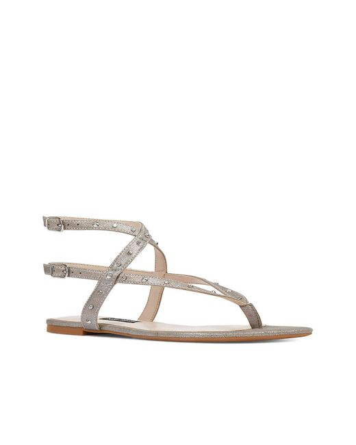 Nine West - Metallic Simcha Studded Wraparound Sandal - Lyst