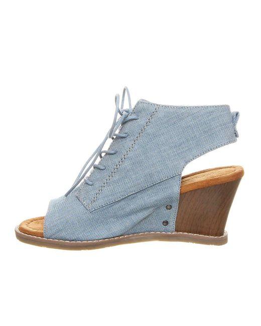186881cd6b3 ... BEARPAW - Blue Aracelli Wedge Sandal - Lyst ...