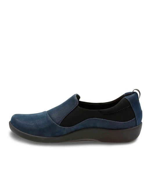0c8177640a180 Lyst - Clarks Cloudsteppers Sillian Paz Slip-on in Blue - Save 51%