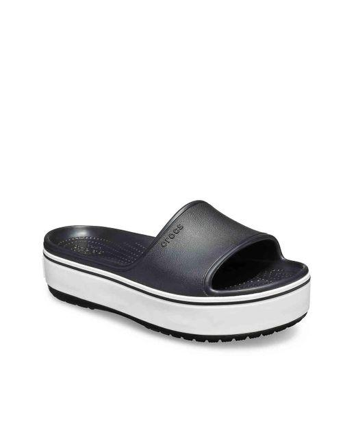4baf3458394d Lyst - Crocs™ Bold Color Platform Sandal in Black - Save 11%