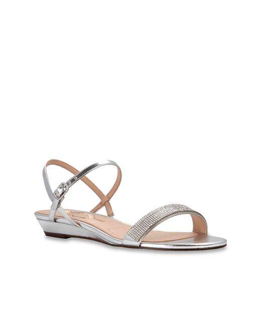 Nina - Metallic Keona Wedge Sandal - Lyst