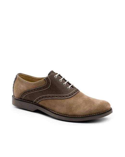 G.H.BASS - Brown Parker Saddle Oxford for Men - Lyst