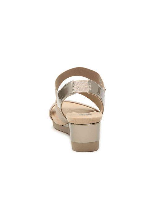 8313c6c049b ... Anne Klein - Metallic Shelly Wedge Sandal - Lyst ...