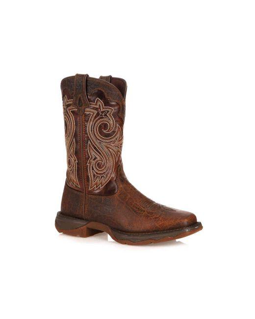 Durango - Brown Steel Western Cowboy Boot for Men - Lyst