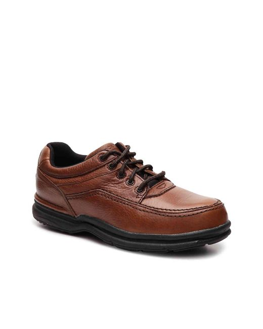 Rockport - Brown World Tour Steel Toe Work Shoe for Men - Lyst
