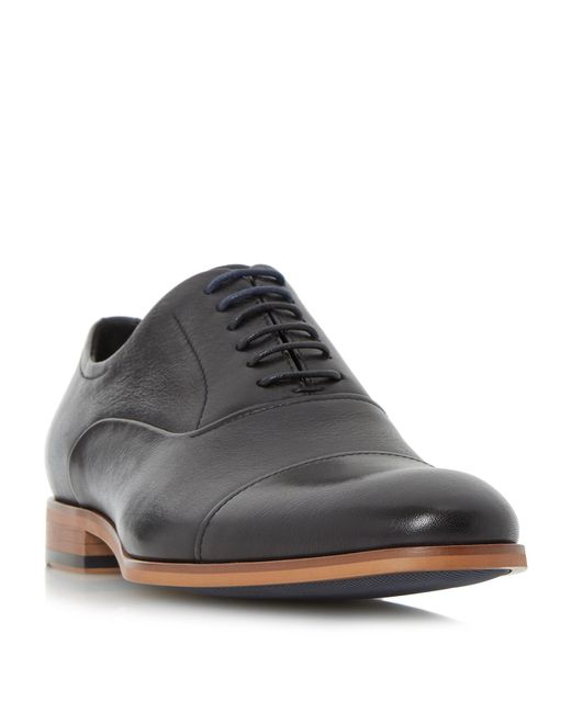 Dune | Black Soft Leather Toecap Oxford Shoe for Men | Lyst