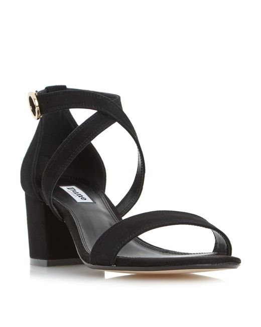 5864910fe8b2 Lyst - Dune Montie Cross Strap Block Heel Sandal in Black