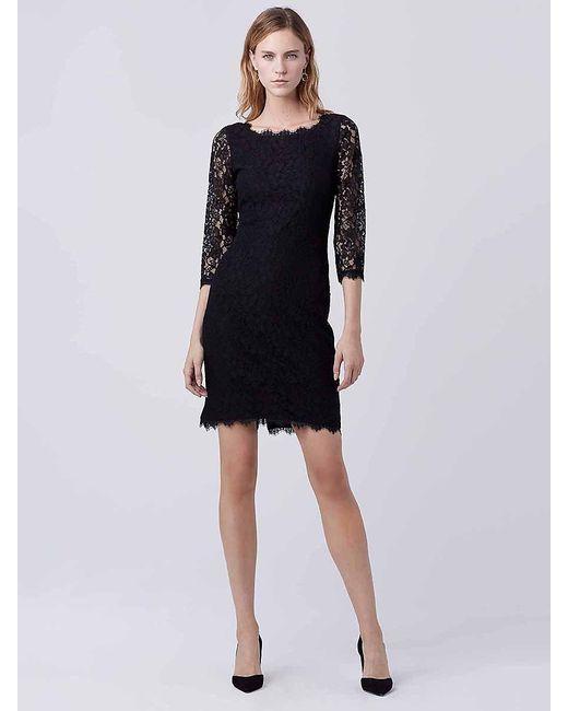 Diane von Furstenberg | Black Zarita Long Lace Dress | Lyst