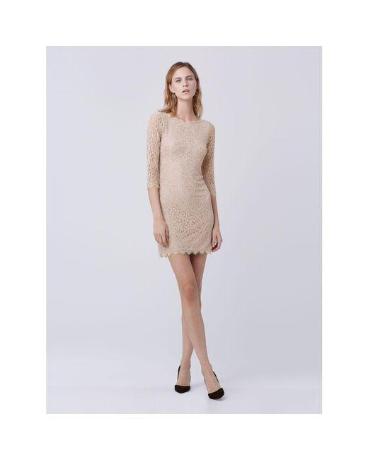 Diane von Furstenberg | Natural Zarita Lace Dress | Lyst
