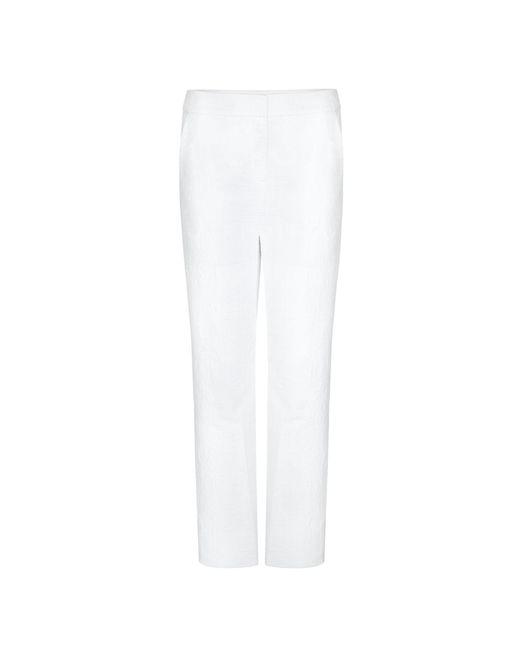 Diane von Furstenberg   White Dvf Genesis Cropped Trousers   Lyst
