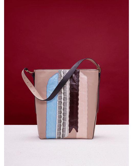 Diane von Furstenberg | Brown Origami Bucket Tote | Lyst