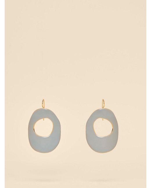 Diane von Furstenberg - Multicolor Enamel Hoop Earrings - Lyst