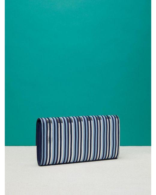 woven stripe wallet - Blue Diane Von F QNo1JSQAv
