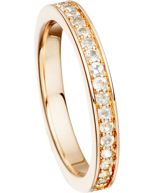 Astley Clarke | White 18ct Rose Gold Vermeil And Moonstone Eternity Ring | Lyst