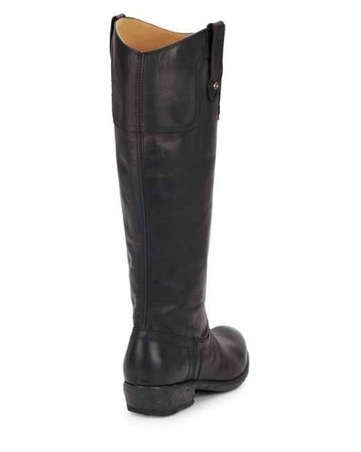 frye carson leather boots in black lyst