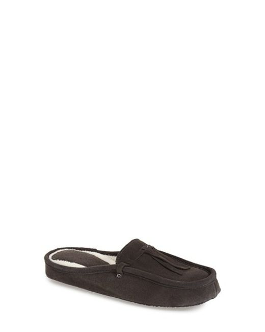 Patricia Green   Gray Greenwich Tasseled Suede Mules    Lyst